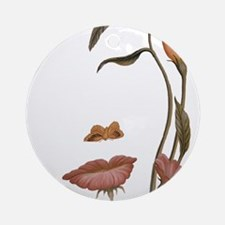 Face Flower Illusion Round Ornament