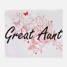 Great Aunt Artistic Design with Butt Throw Blanket
