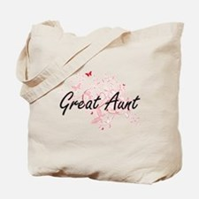 Great Aunt Artistic Design with Butterfli Tote Bag