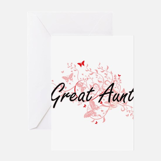 Great Aunt Artistic Design with But Greeting Cards