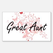 Great Aunt Artistic Design with Butterflie Decal