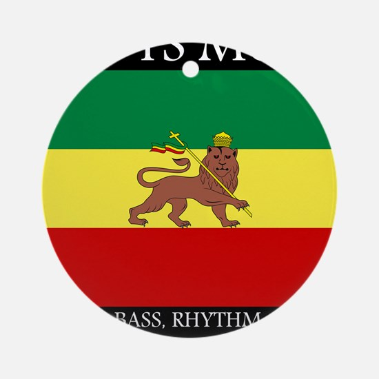 Roots-Music-Flag-Ethiopia Round Ornament