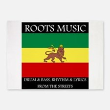 Roots-Music-Flag-Ethiopia 5'x7'Area Rug