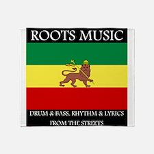 Roots-Music-Flag-Ethiopia Throw Blanket