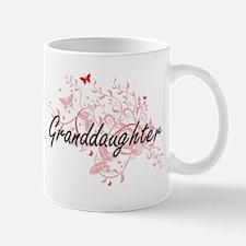 Granddaughter Artistic Design with Butterflie Mugs