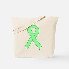 Light Green Ribbon Tote Bag