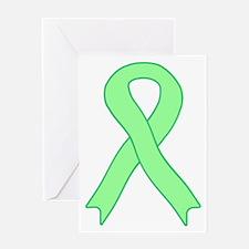 Light Green Ribbon Greeting Card