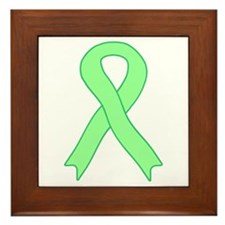 Light Green Ribbon Framed Tile