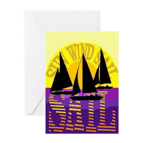SUN WIND SAIL Greeting Card