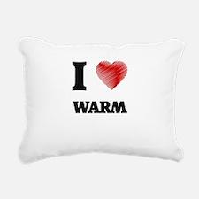 I love Warm Rectangular Canvas Pillow