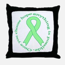 Lt. Green Hope Throw Pillow