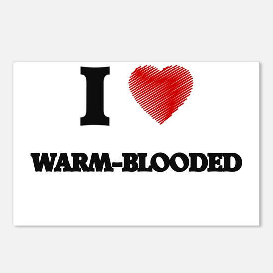 I love Warm-Blooded Postcards (Package of 8)