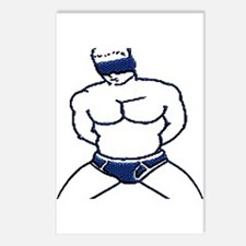 BLINDFOLDED SUBMISSION-BLUE Postcards (Package of8