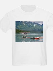 Float plane, Trail Lake, Alaska T-Shirt