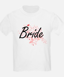 Bride Artistic Design with Butterflies T-Shirt