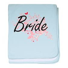 Bride Artistic Design with Butterflie baby blanket