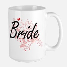 Bride Artistic Design with Butterflies Mugs