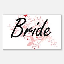 Bride Artistic Design with Butterflies Decal