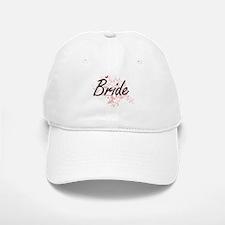 Bride Artistic Design with Butterflies Baseball Baseball Cap