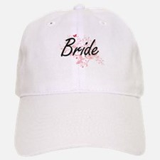 Bride Artistic Design with Butterflies Cap