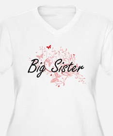 Big Sister Artistic Design with Plus Size T-Shirt