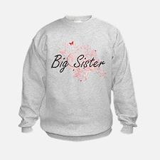 Big Sister Artistic Design with Bu Sweatshirt