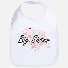 Big Sister Artistic Design with Butterflies Bib