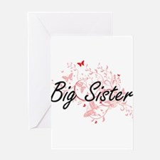 Big Sister Artistic Design with But Greeting Cards