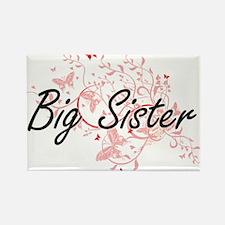 Big Sister Artistic Design with Butterflie Magnets