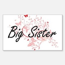 Big Sister Artistic Design with Butterflie Decal