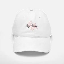 Big Sister Artistic Design with Butterflies Cap