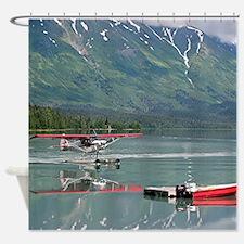 Float plane, Trail Lake, Alaska Shower Curtain