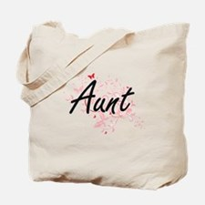 Aunt Artistic Design with Butterflies Tote Bag