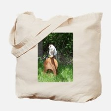 spinning wheel & cat Tote Bag