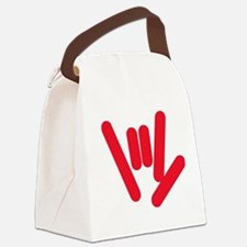 asl_hand_red.jpg Canvas Lunch Bag