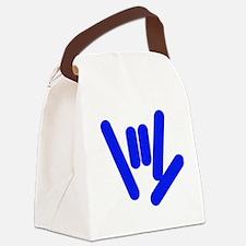 asl_hand_blue.jpg Canvas Lunch Bag