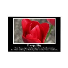 Tranquillity Inspirational Rectangle Magnet