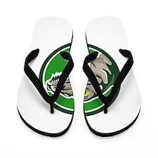 Raptor Head Side Circle Retro Flip Flops