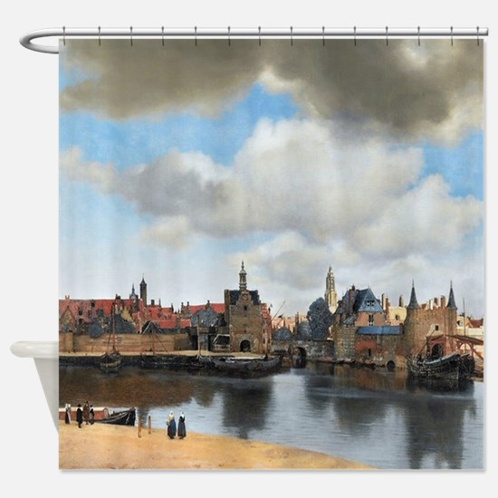 Vermeer Delft Shower Curtain