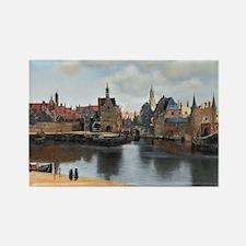 Vermeer Delft Rectangle Magnet
