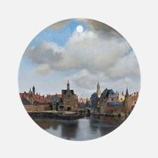Vermeer Delft Round Ornament