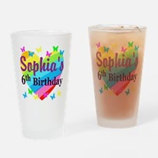 PERSONALIZED 6TH Drinking Glass