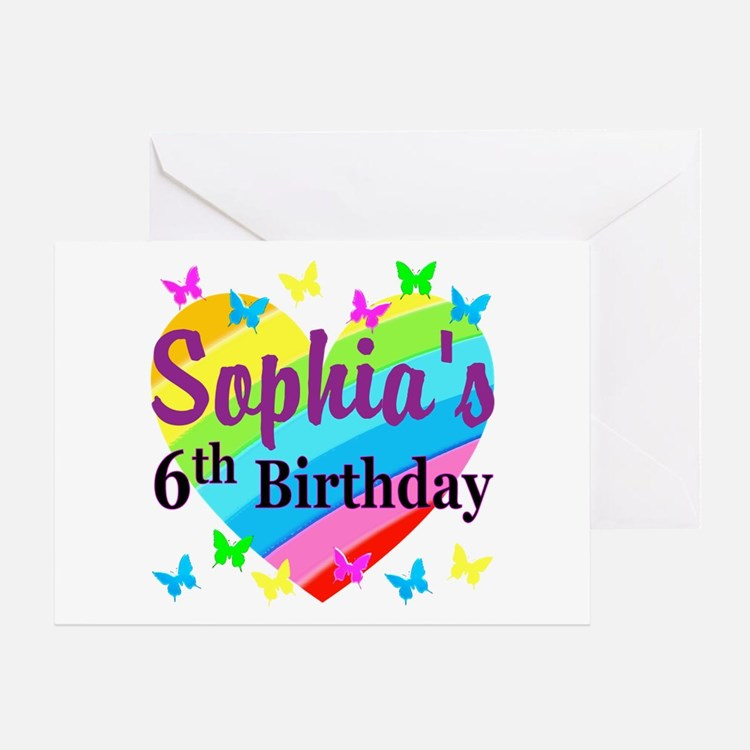 6 Birthday Card Templates: Happy 6Th Birthday Happy 6th Birthday Greeting Cards