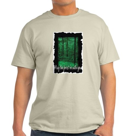 May The Forest Be With You Ash Grey T-Shirt