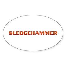 Sledgehammer Bike Oval Decal