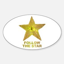 follow the star Oval Decal