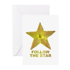 follow the star Greeting Cards (Pk of 10)
