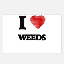 I love Weeds Postcards (Package of 8)