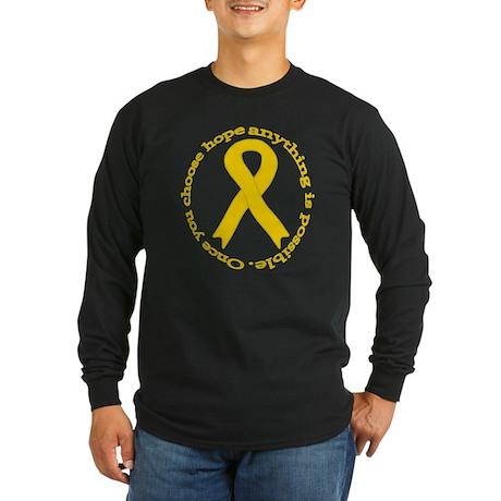 Gold Hope Long Sleeve Dark T-Shirt