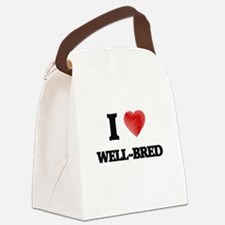 I love Well-Bred Canvas Lunch Bag